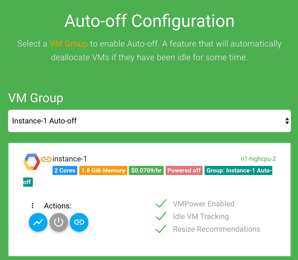 Auto-off Group Select