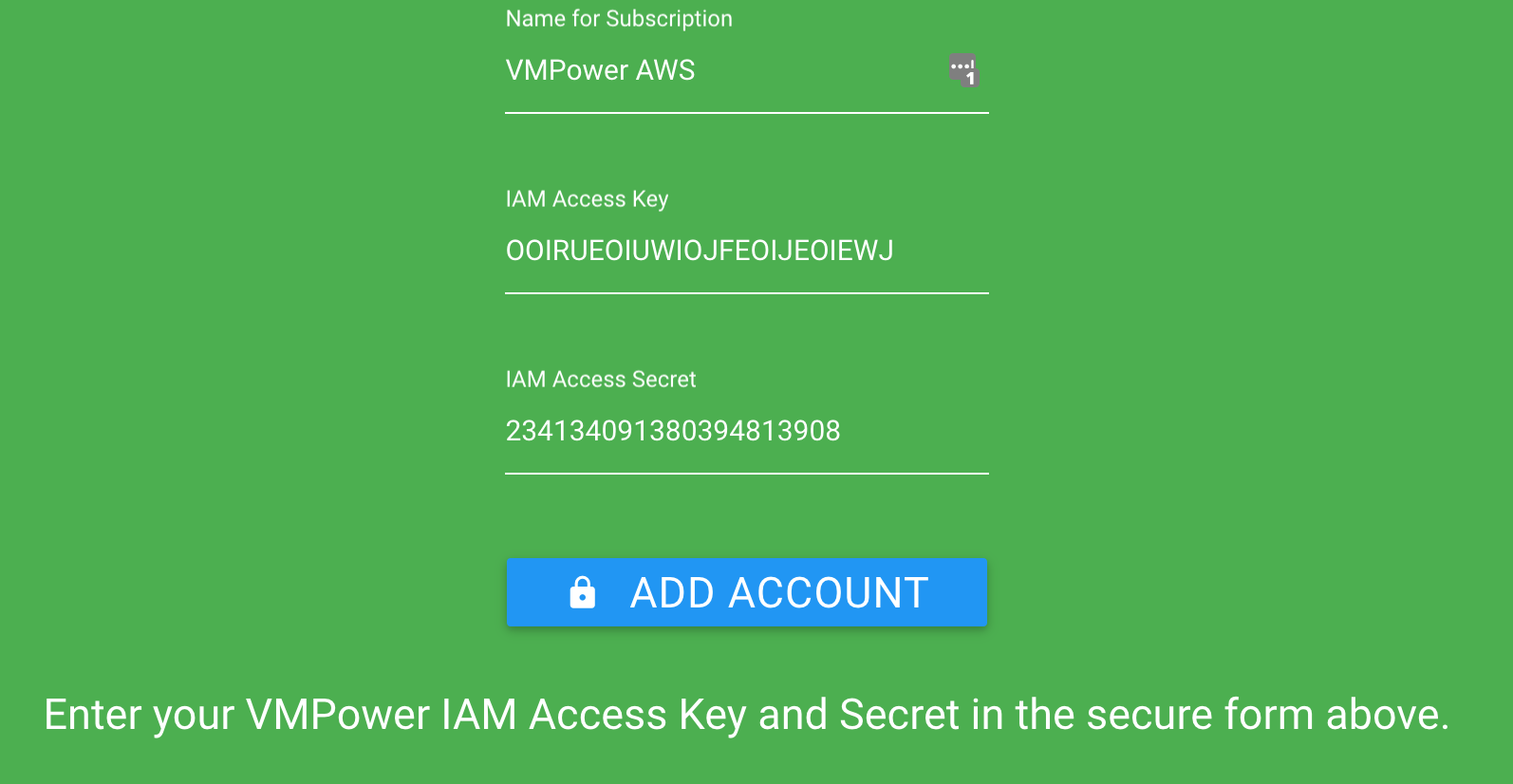 AWS Subscription Connection Prompt