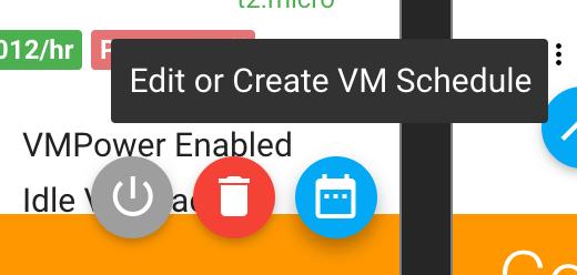 Edit or create schedule button