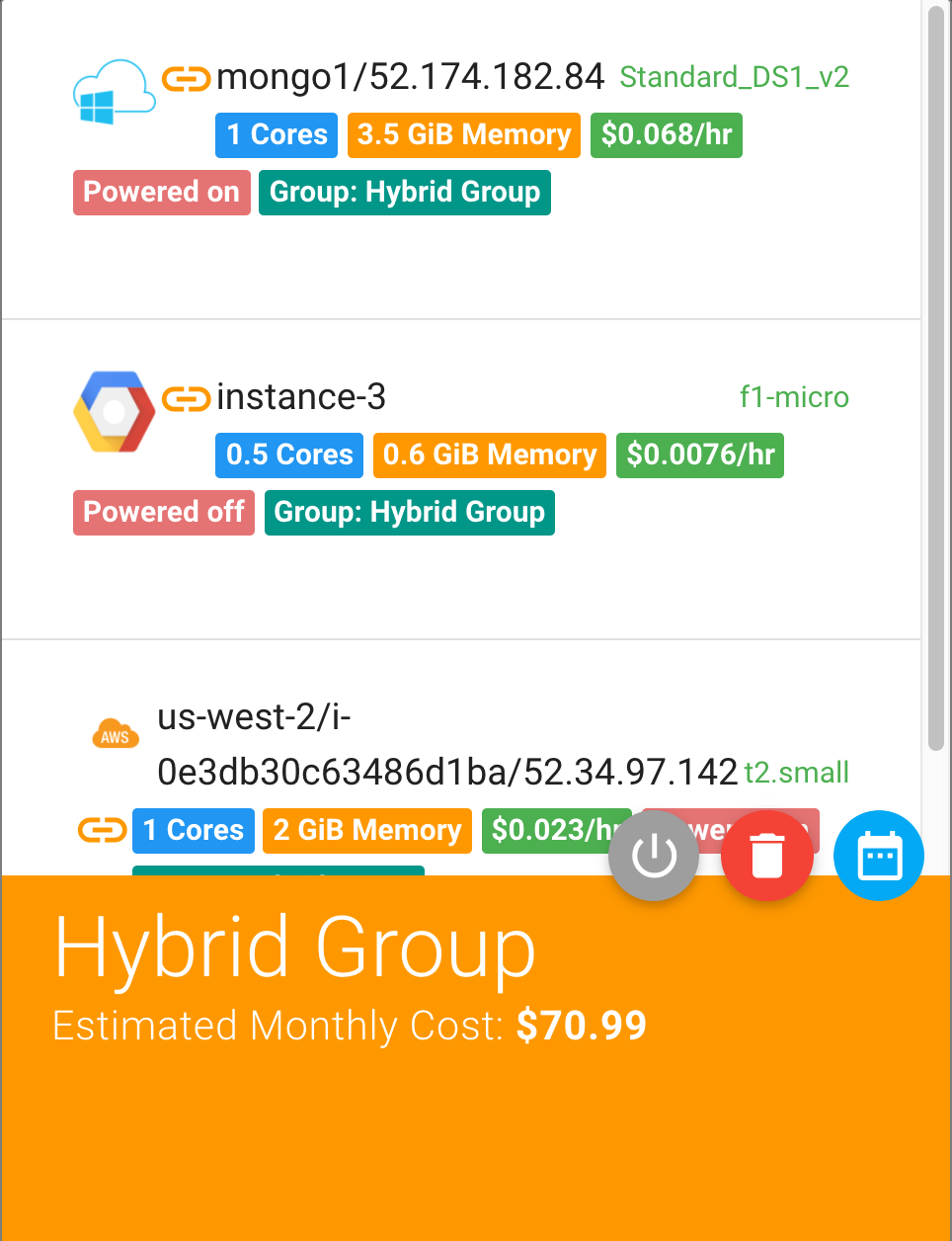 Multi-cloud VM Group